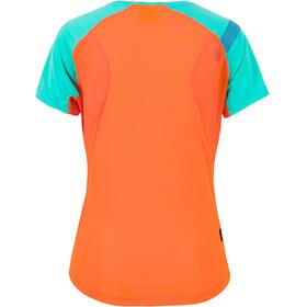 La Sportiva Catch - T-shirt course à pied Femme - orange/turquoise